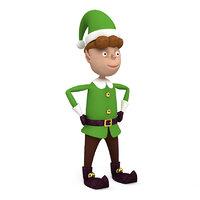 3D christmas elf