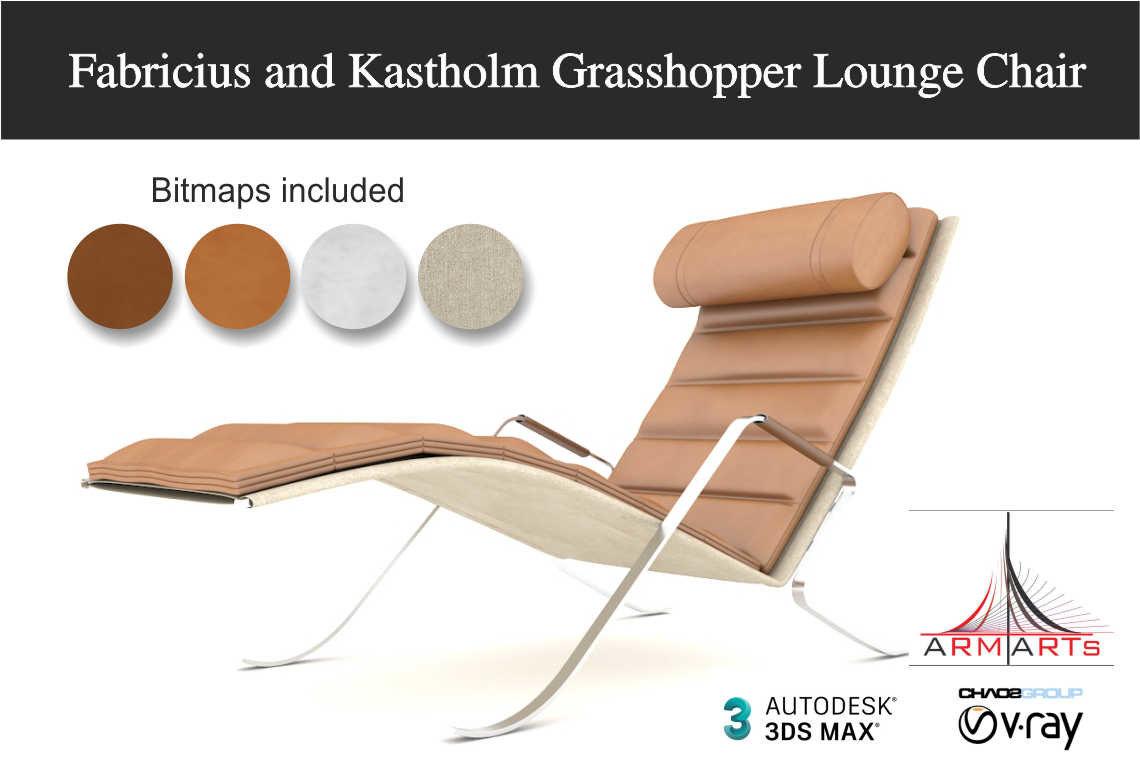 fabricius grasshopper lounge chair 3D model