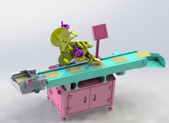automatic labeling machine 3D model