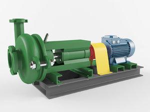 pump centrifugal industrial 3D model