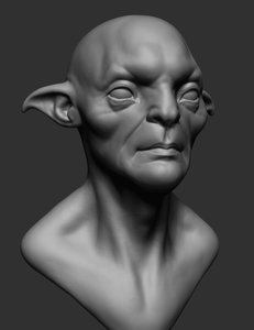 3D creature head ztl