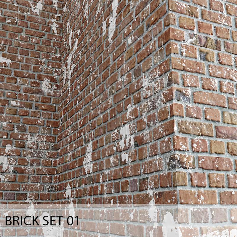 3D brick set 01