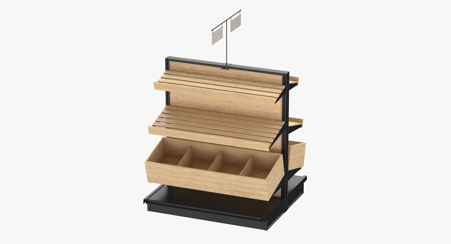 3D deli bakery rack 02 model
