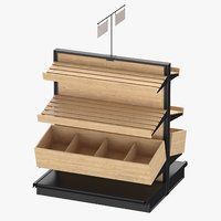 3D deli bakery rack 02 model