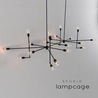 Industrial bar by Lamp Cage / Chandelier black v2