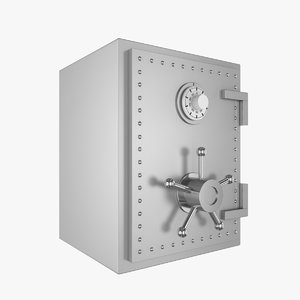 safe bank steel 3D model