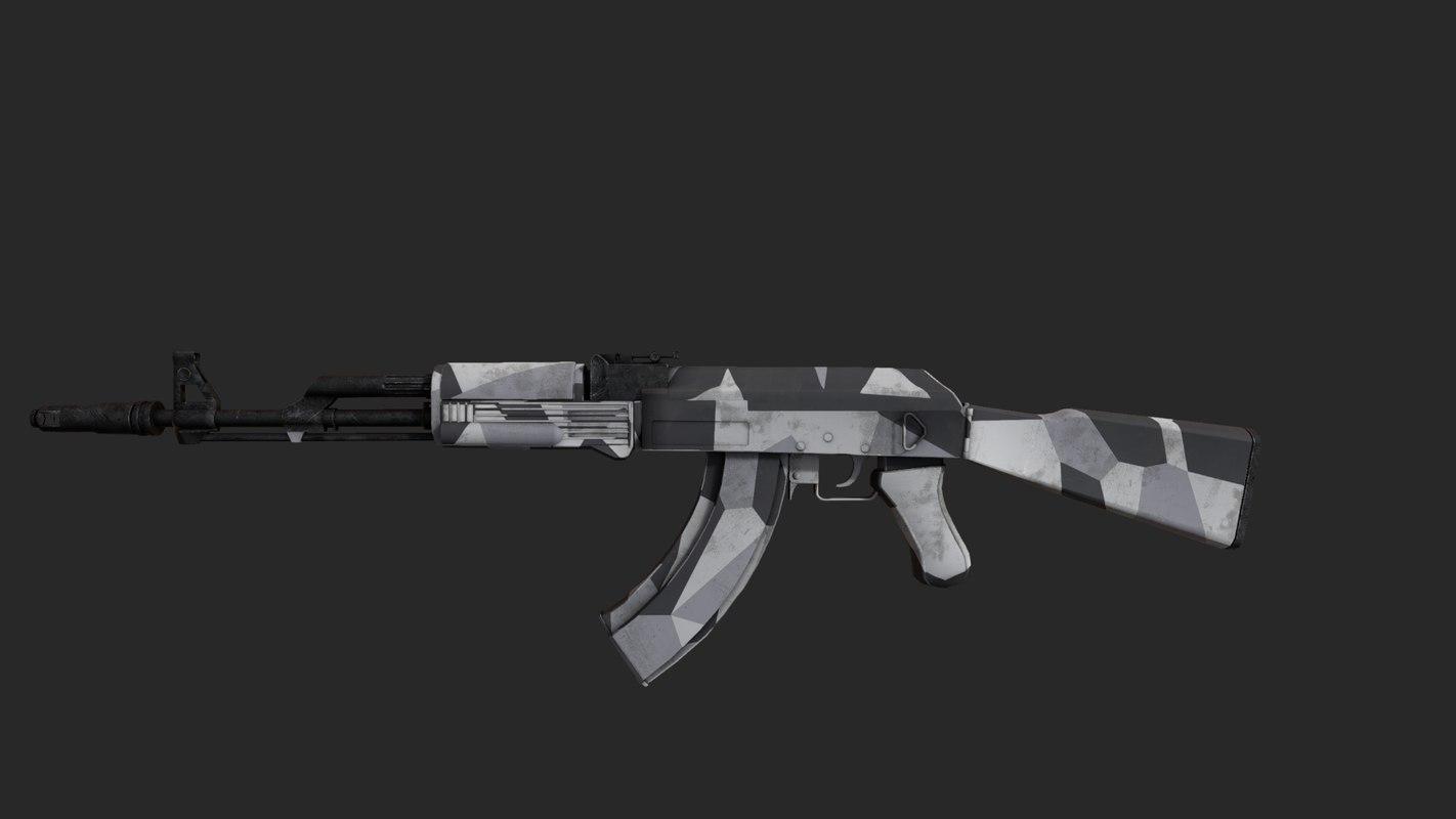ak-74 3D model