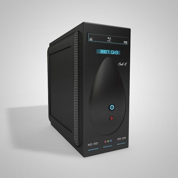 pc case 2 panel 3D model