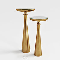 Minaret Satin Brass Small Accent Table