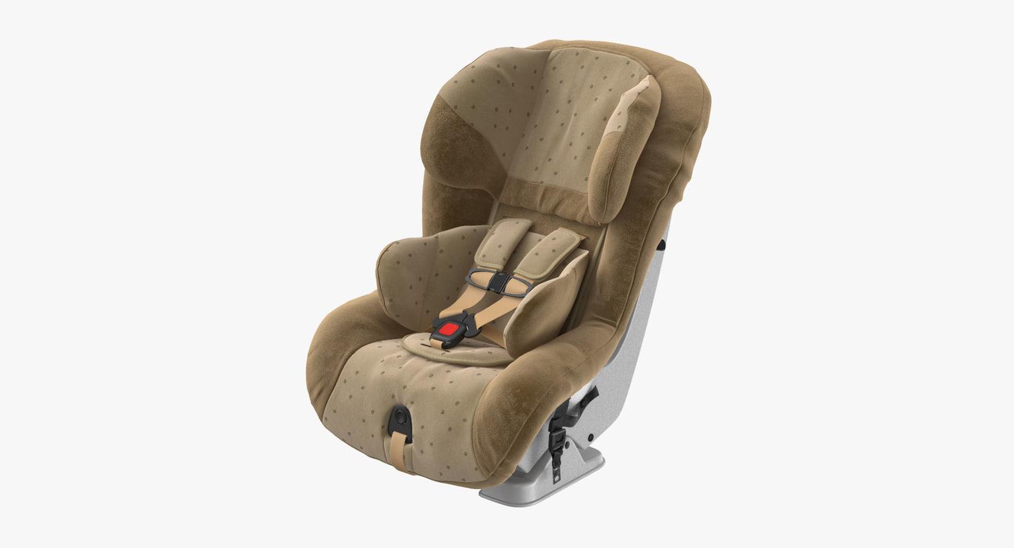 child car seat 3D model