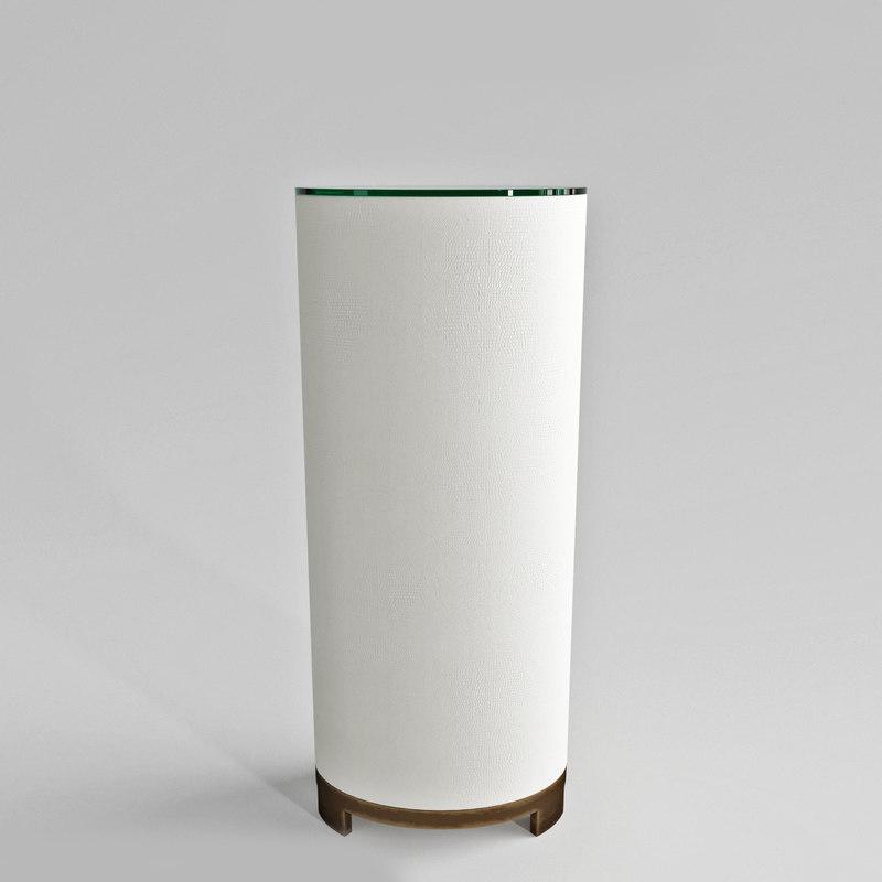 studio ellipse pedestal 3D model