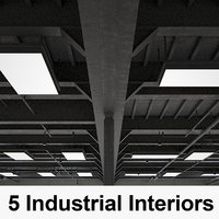 5 industrial interior 3D model