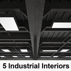 5 industrial interior 3D model