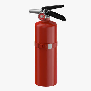 3D extinguisher medium 01 model