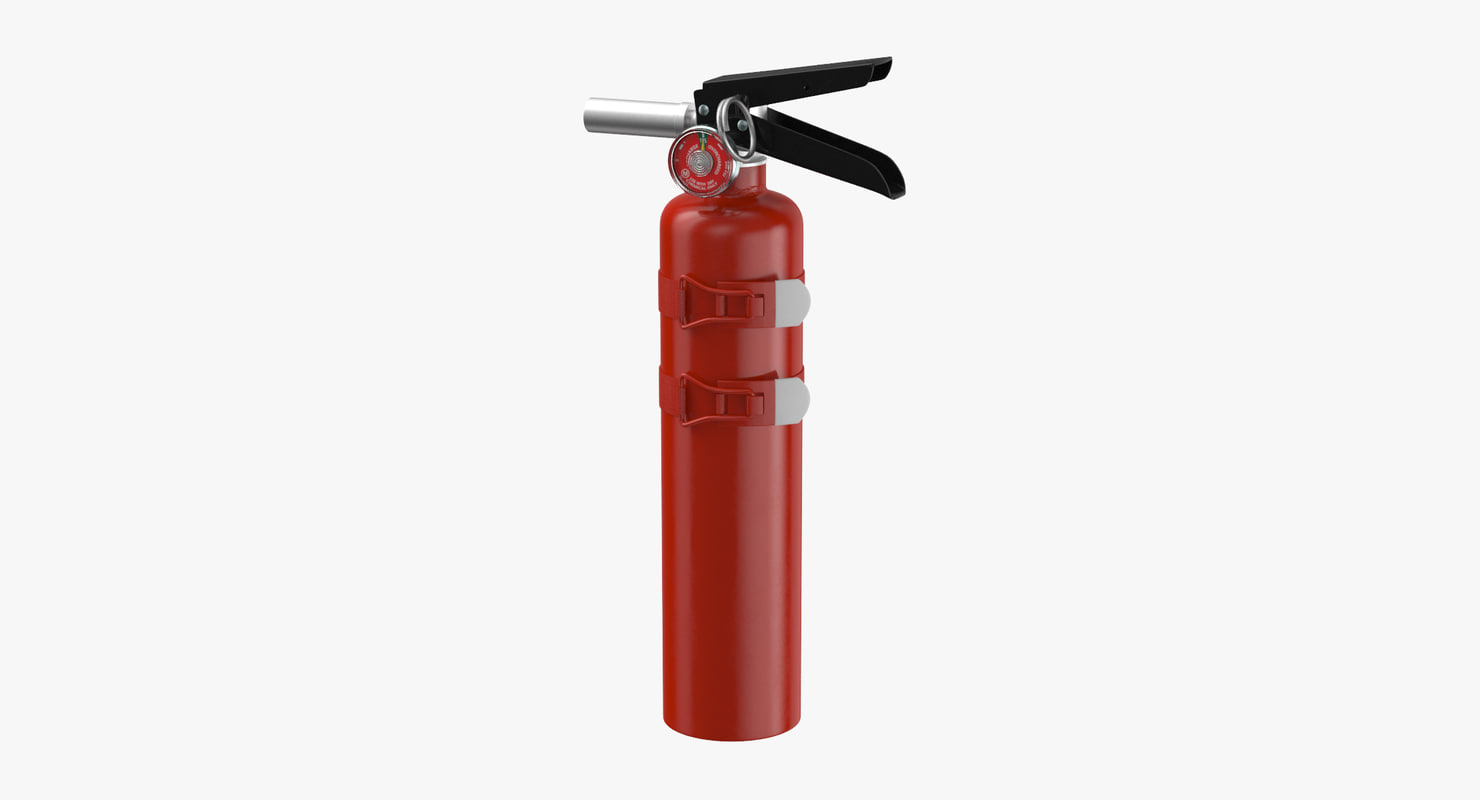 extinguisher medium 02 3D model
