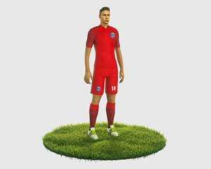 ready football player character 3D model