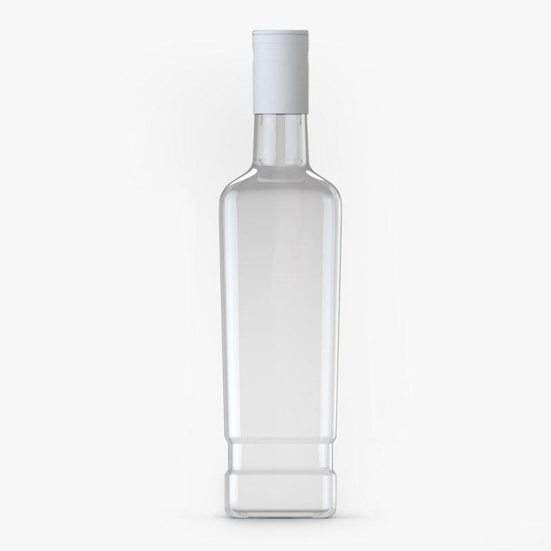 glass glas bottle 3D model