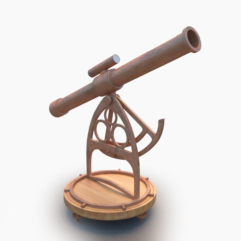 3D old telescope model