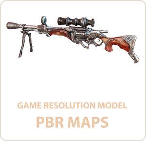 3D model real sniper rifle