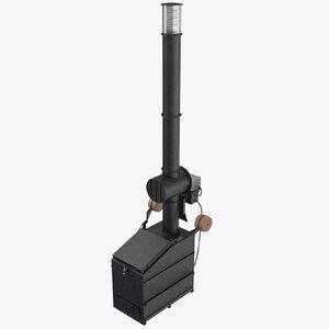industrial incinerator 3D model