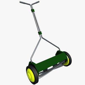 reel mower 3D