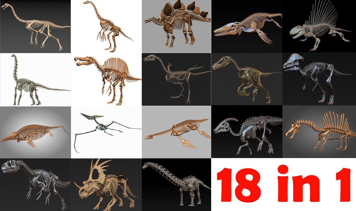 18 in1 dino skeleton model