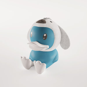 3D model b duck keychain