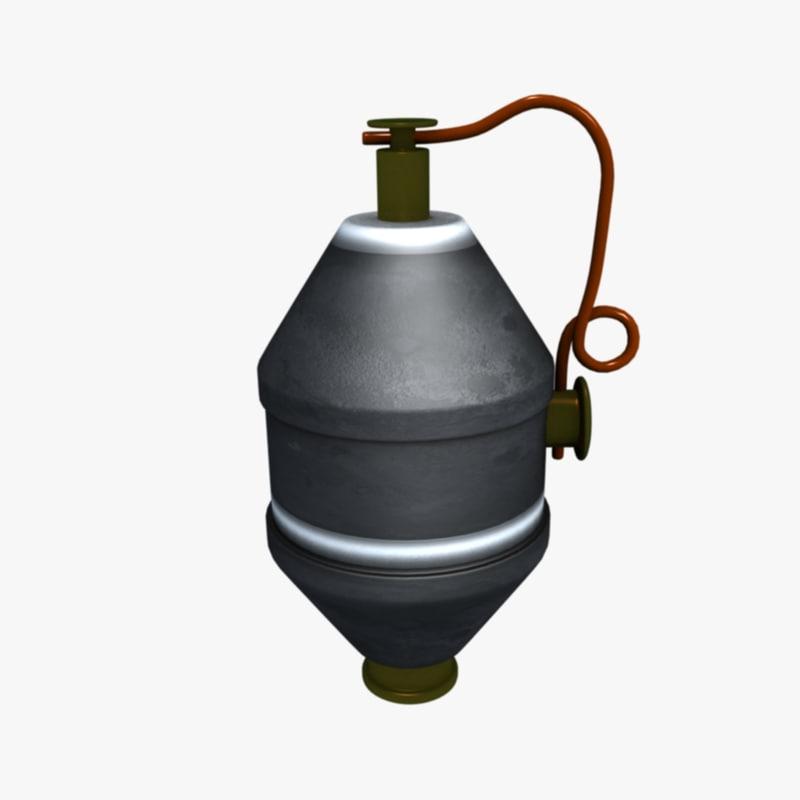 343 grenade 3D