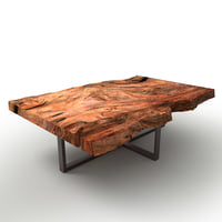 3D wooden block coffee table model