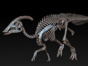 parasaurolophus skeleton saurolophus 3D model