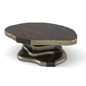 3D model latza center table brabbu