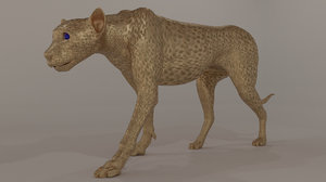 3D sculpting cheetah model
