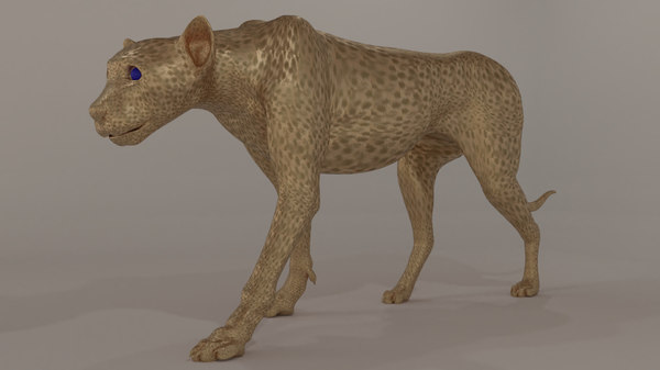 3D sculpting cheetah model