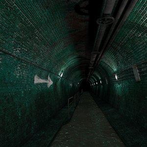 3D model tunnel water