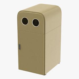 3D model trashcan 02 05