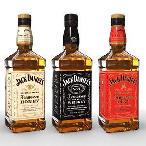 3D jack daniels bottles model