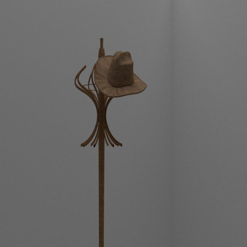 3D hat wood