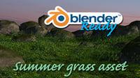 blender asset grass 3D model