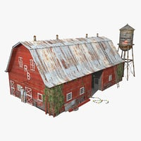 photorealistic old barn 3D