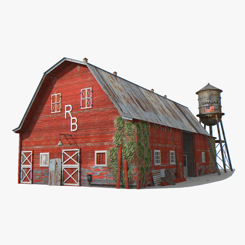 photorealistic old barn 3d turbosquid 1228815
