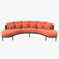 3D muranti carnelian sofa model