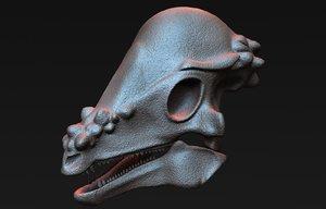 3D pachycephalosaurus skull