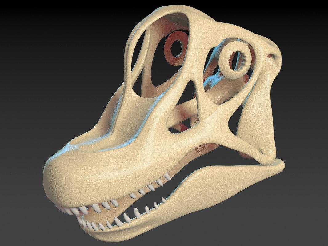 brachiosaurus skull model