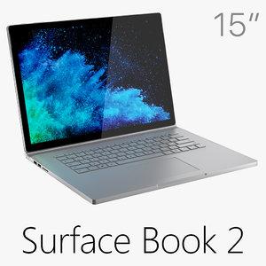 microsoft surface book 2 3D model