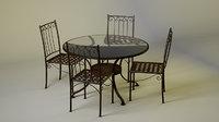 3D mesa hierro forjado model