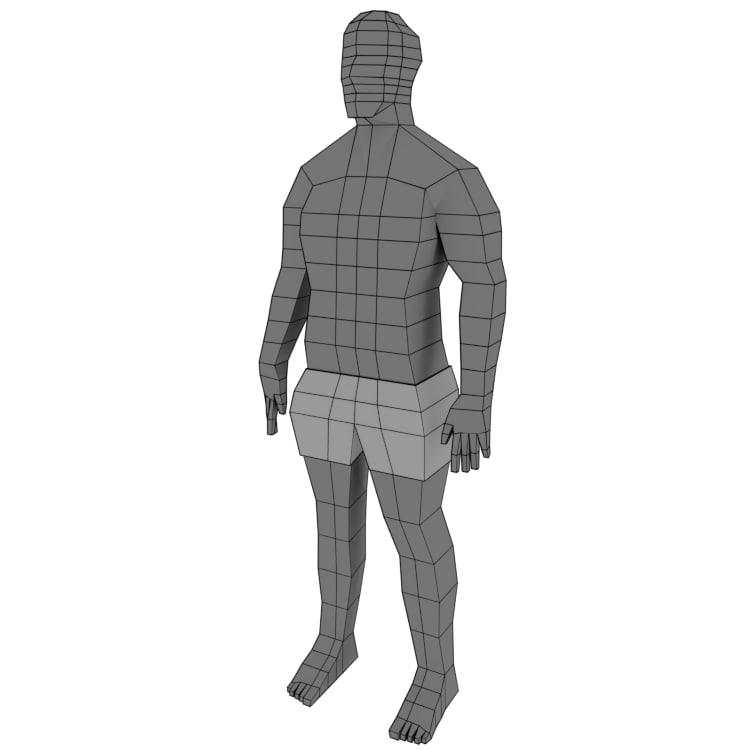 base character mesh 3D model