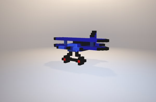 ww1 aeroplane blue 3D