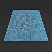 3D model urban dublin carpet
