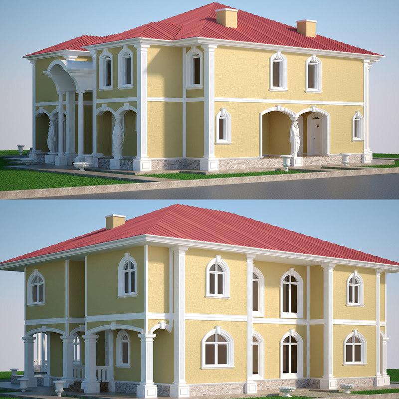 luxury villa 3D model