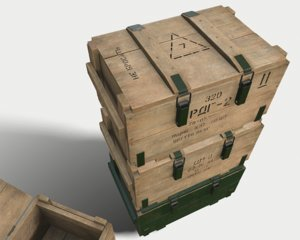 3D model box military